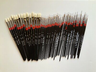 New Lot of 50 Robert Simmons OIL Paint Brushes Long Handle