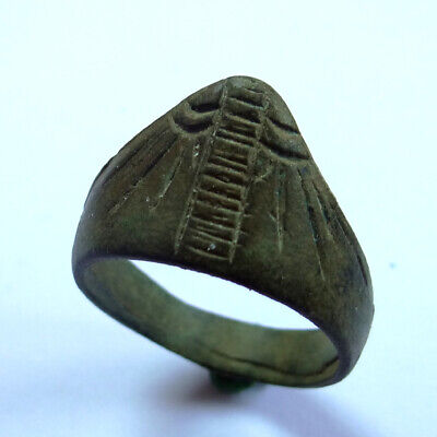 Roman Ancient Artifact Bronze Archer Finger Legionary Ring