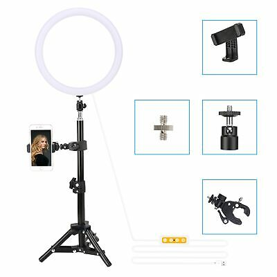 """ZOMEI 10"""" LED Ring Light Dimmable Lighting with Stand/Phone clip for Photography"""