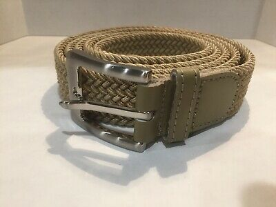 Men Elastic Fabric Woven Belt Expandable Braided Stretch Belts