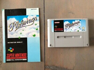 Pilotwings Super Nintendo SNES cart – excellent condition with manual