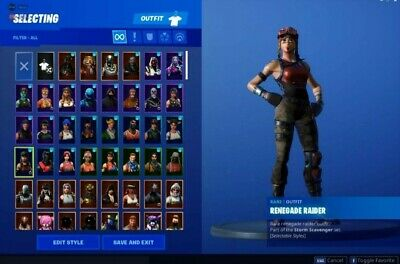 Fortnite Account OG +250 Skin (Regenade Raider, Ikonik, Ghoul, Galaxy,...
