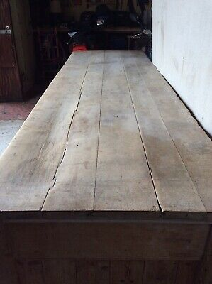 Large Antique Victorian Bakers Table