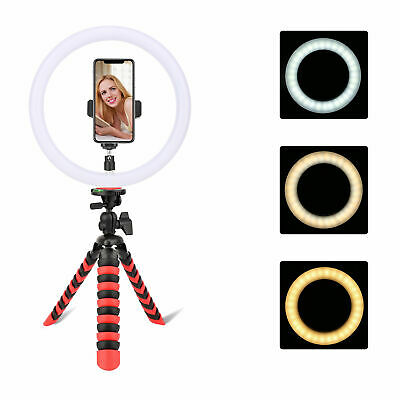 Zomei tripod Portable Flexible Camera/Phone stand with 10' 128pcs LED Ring Light