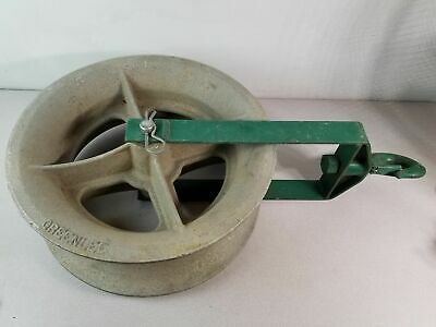 "Greenlee 8018 18"", 8000 lb Capacity Hook Sheave, Cable Pulling Sheave 95776"