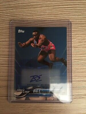 Topps WWE Big E auto /30 autograph card