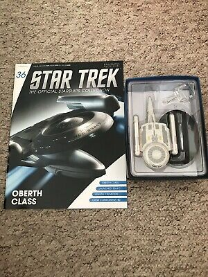 Eaglemoss Star Trek Collection Uss Pegasus/Grissom & Magazine. Issue 36.