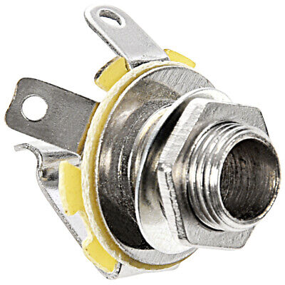 Metal Guitar Electric Replacement Mono Input or Output Jack Socket 6.35mm 1 M4T6