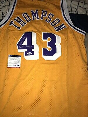 """924d3127 Mychal Thompson Signed Custom Lakers Jersey! PSA Certified! """"Showtime"""""""