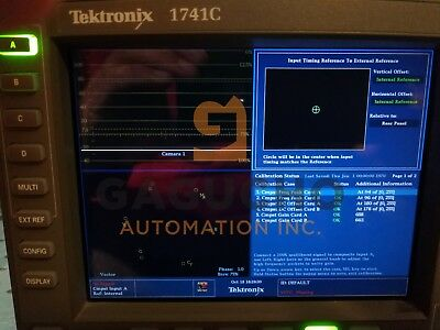 Tektronix 1741C -cps Analogique Dual-Standard Moniteur W/ Cps en Option