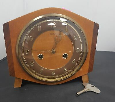Vintage Smiths Westminster Chime Clock With Key #602