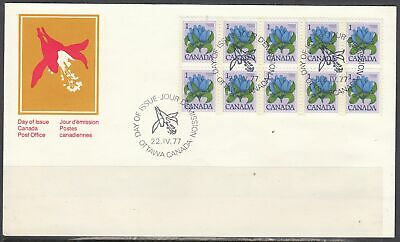Canada Scott 705 FDC - 1977-82 Floral Definitive Issue