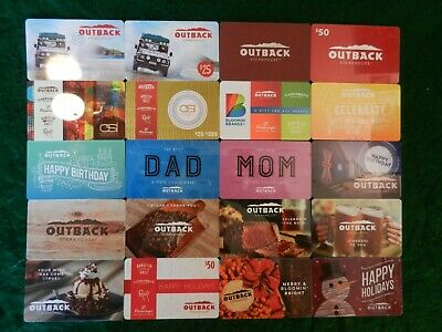 Lot Of Twenty (20) Different Collectible Only *Outback Steakhouse* Gift Cards