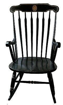 Groovy Vintage Ebonized Windsor Rocking Chair By S Bent Bros Ma Lamtechconsult Wood Chair Design Ideas Lamtechconsultcom