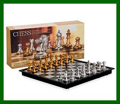 Magnetic Travel Chess Set W Board That Becomes A Storage Compartment Great Toy B