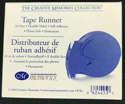 Creative Memories Scrapbook Adhesive Tape Runner Double sided 34 ft New in Box