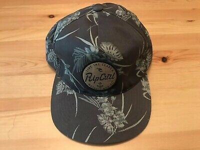 89c9e853291bd2 VINTAGE 90S RIP Curl Surfing Snapback Hat Cap Navy Blue USA Made ...