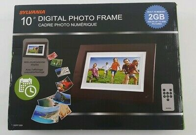 "Sylvania 10"" Digital Photo Frame w/ Clock/Calendar Display & Remote"