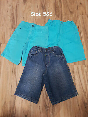 4 x Size 5&6 Children's Denim Shorts - Excellent Used Condition!