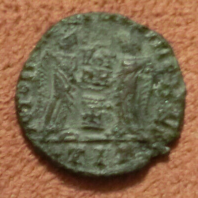 RARE Constantine I The Great Coin Two Victories Early Christian Coin With Cross
