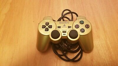 PS2 PlayStation 2 GOLD Controller Official Authentic OEM Sony Analog DualShock2
