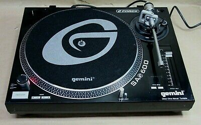 GEMINI SA-600 Professional DJ Direct Drive Manual Turntable - Free Shipping