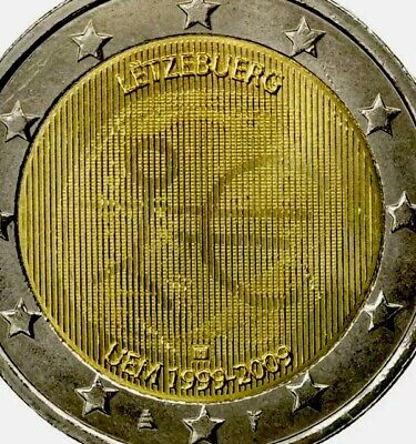 Luxembourg Coin 2€ Euro 2009 Commemorative EMU Monetary Union UNC From Roll