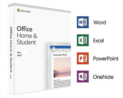 Microsoft Office Home And Student 2019 | For 1 Apple Mac, Lifetime | Free Ship!