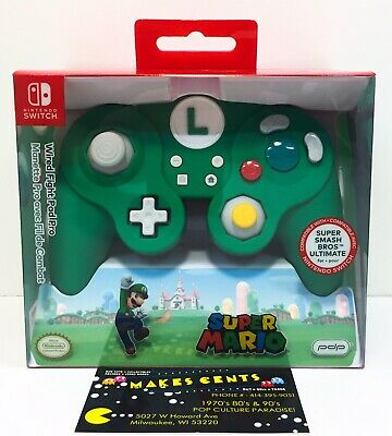 PDP Mario Wired Green Fight Pad Pro Controller Nintendo Switch Brand New In Box