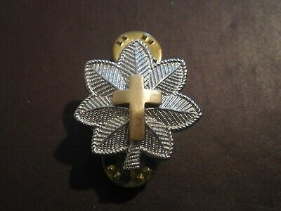 Chaplain Lt Colonel Rank Officer Insignia Military Badge Hat Cross Pin US Army
