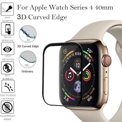 For Apple Watch Series 40&44 3D 9H Full Coverage Tempered Glass Screen Protector