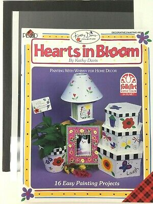 Hearts in Bloom Book by Kathy Davis Decorative Tole Painting Instruction Pattern