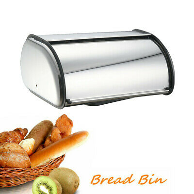 Stainless Steel BREAD BOX Storage Bin Kitchen Cake Food Container Bread Holder