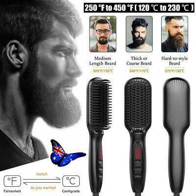 Quick Beard Straightener Multifunctional Hair Comb Curling Curler + Disp FO
