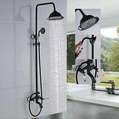 "8"" Rainfall Shower System Faucet Set with Handheld Sprayer Mixer Tub Wall Mount"