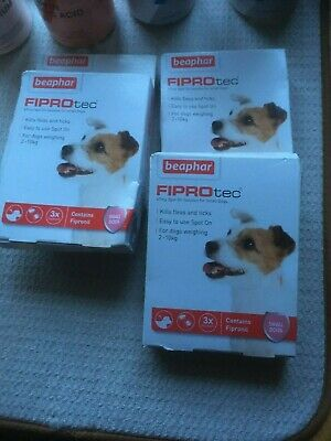 Beaphar FIPROtec Kill Flea Ticks Spot On for small Dogs 20-40kg Contain Fipronil