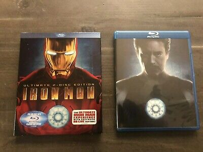 Iron Man 1 (Blu-ray 2008 2-Disc Set Ultimate Edition) MINT Discs w/ Slipcover