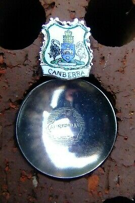 Vintage Tea Caddy Spoon - Canberra Coat Of Arms Act