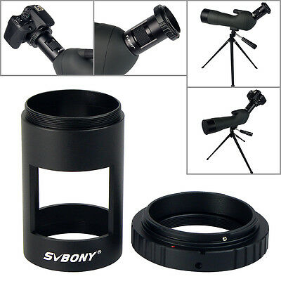 SVBONY Camera T-Ring Adapter Photography Sleeve+for Spotting Scope M42*0.75Canon