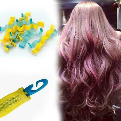 10Pcs Water Wave Magic Curlers Formers Leverage Spiral Hairdressing Tool HOT