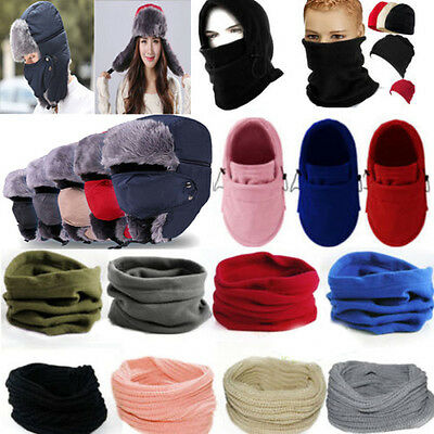 Unisex Balaclava Mask Hats Winter Warmer Neck Warmer Scarf Snood Hooded Scarves