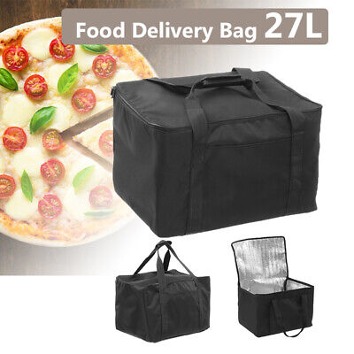 27L Food Delivery Bag Professional Takeaway Pizza/Burgers/Pies Holds 15.7Inch