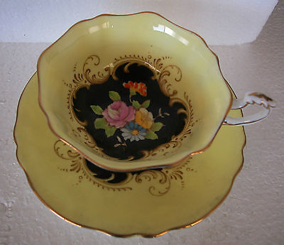 A Fine Antique Porcelain Tea Cup&Saucer Decorated With Flowers By Faragon