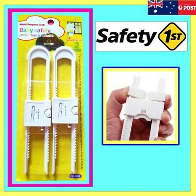 2 pcs Child Baby Safety Drawer Door Cabinet Cupboard U Shape Security Lock HU