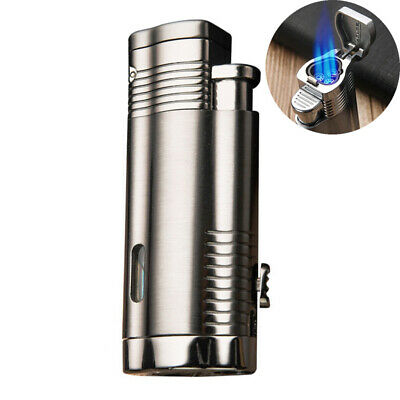 Butane Lighters Three Torch Jet Gas Lighter with Blue Flame For Cigars Cigarette