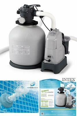 Intex Krystal Clear 1500/2150 GPH Sand Filter Pump  Saltwater System with E.C.O
