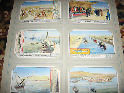 Collection  Chromos  Liebig   Le Canal De Suez