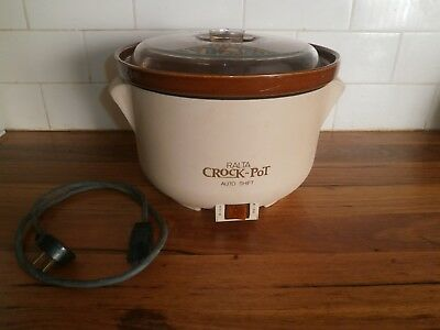 RALTA CROCK-POT ~ 3.5L REMOVABLE CROCK ~ RETRO 1980's