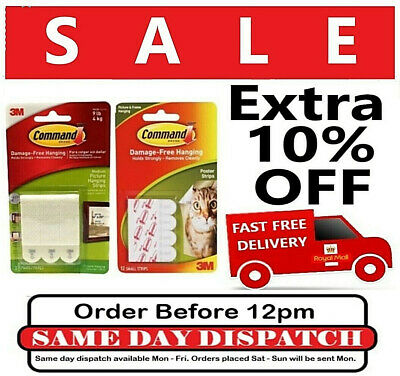 3M Command™ Picture Frames Adhesive Stick on Strips Damage Free Wall Hanging