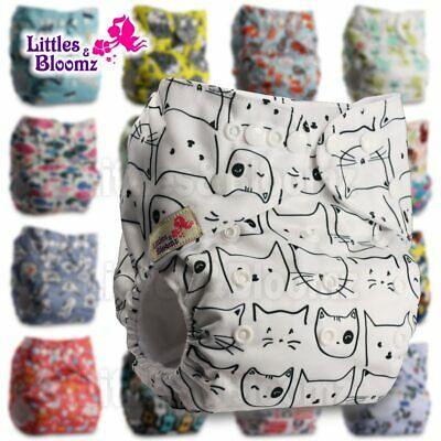LittlesBloomz Baby Washable Reusable Real Cloth Pocket Nappy Diaper Cover Wrap